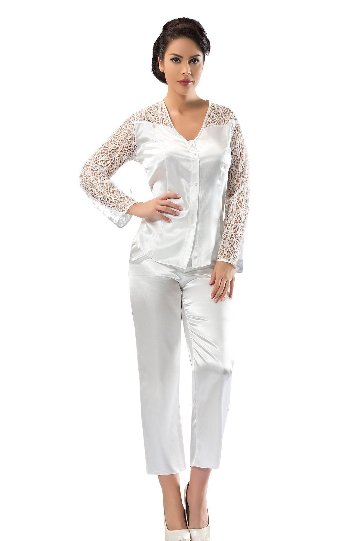 Sistina 1602 saten çeyizlik pijama takım