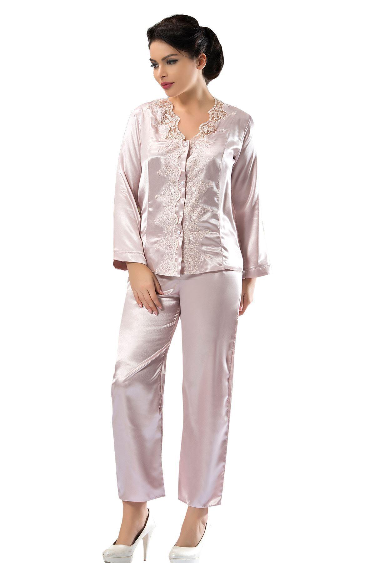 Sistina 1587 saten çeyizlik pijama takım
