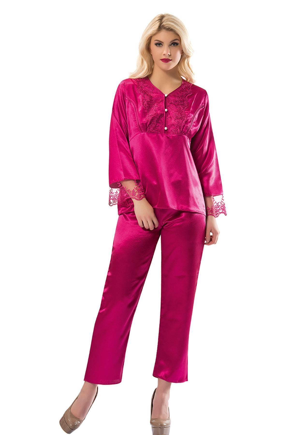 Sistina 1595 saten çeyizlik pijama takım