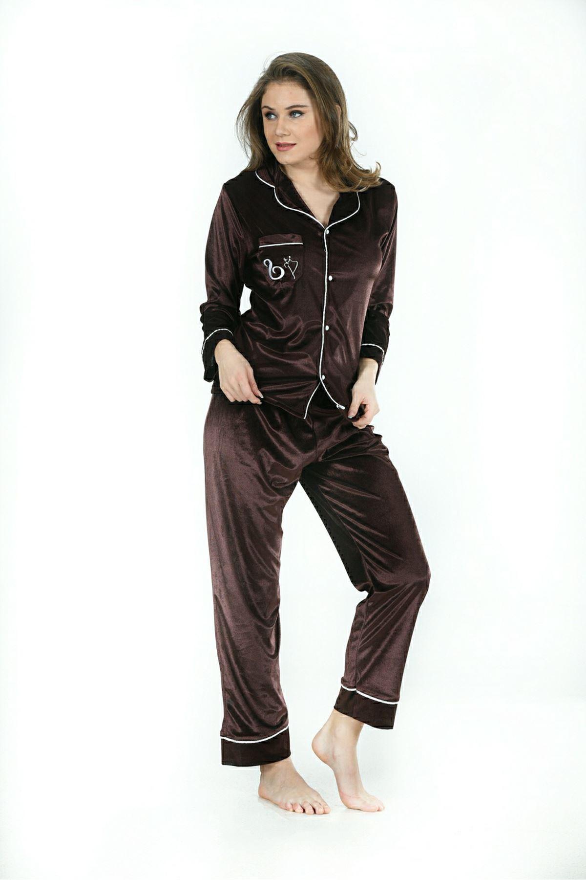 Sistina 1638 Kadife Pijama Takım