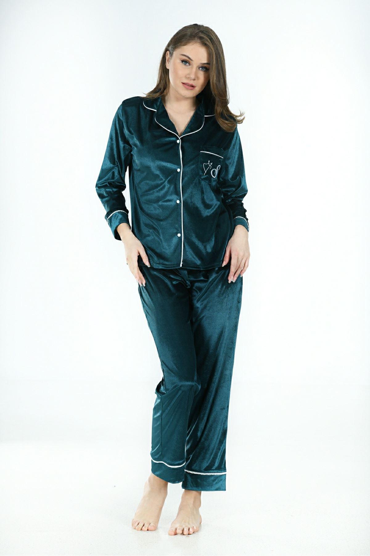Sistina 1639 Kadife Pijama Takım