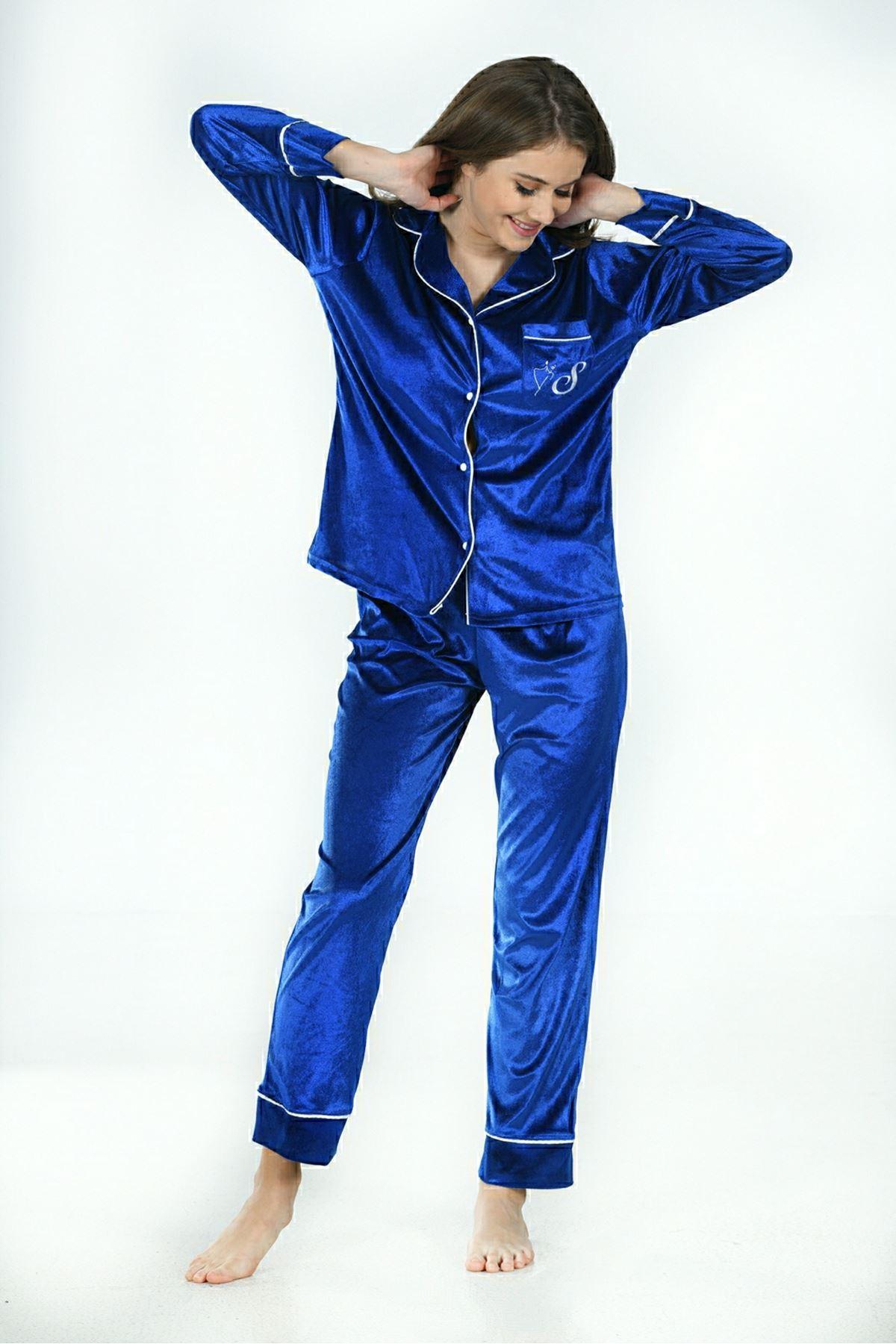 Sistina 1640 Kadife Pijama Takım