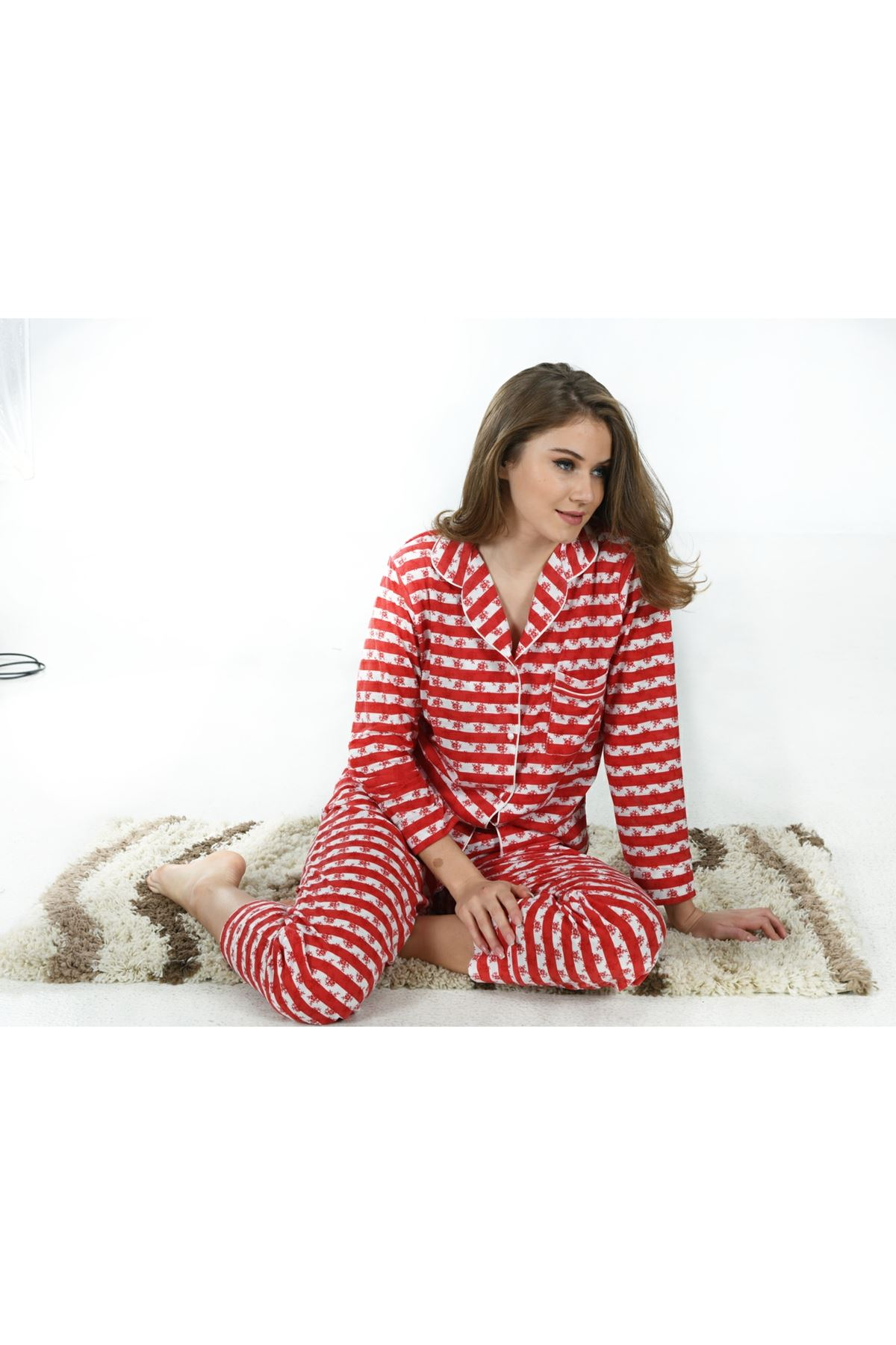 Sistina 1612 Penye Pijama Takım